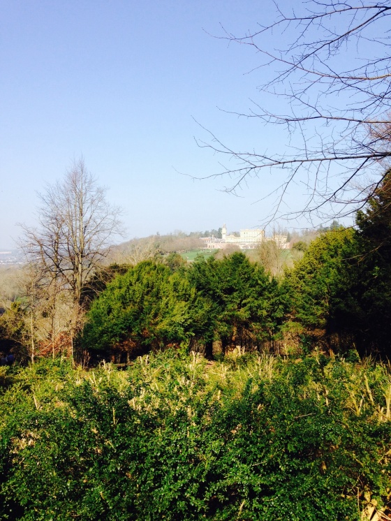 The view from the wood of Cliveden House