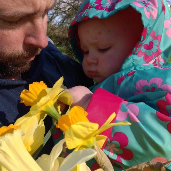 Bella and Daffodils