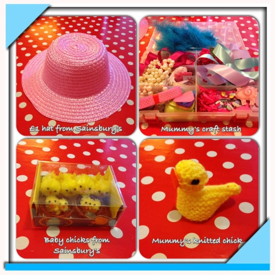 Easter bonnet making 1