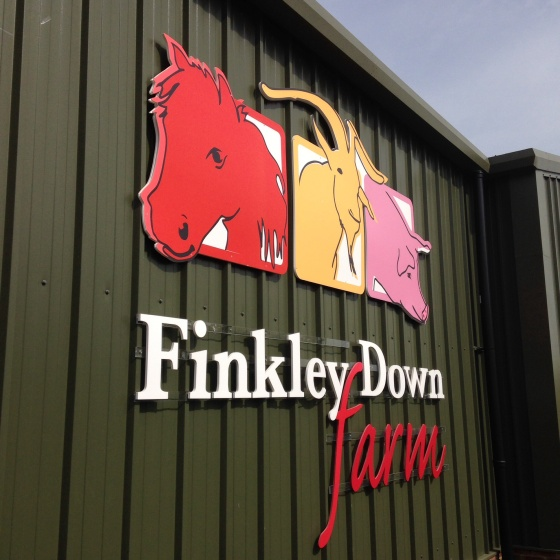 Finkley down farm sign