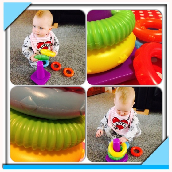 Little Tikes Stacking Rings in action