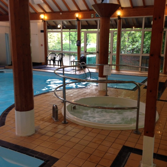 Swimming pool at Marwell Hotel