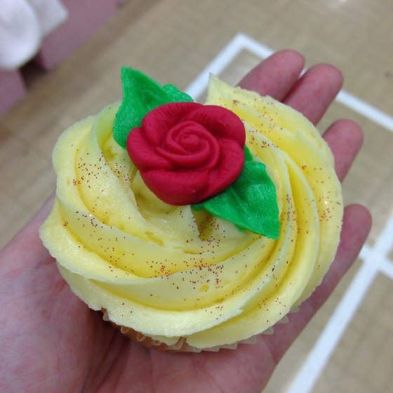 Vanilla Rose Cupcake
