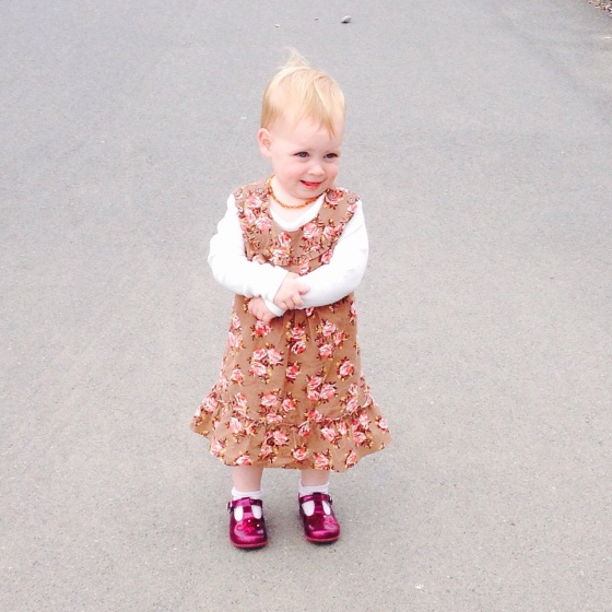 Bella in Sainsbury's dress