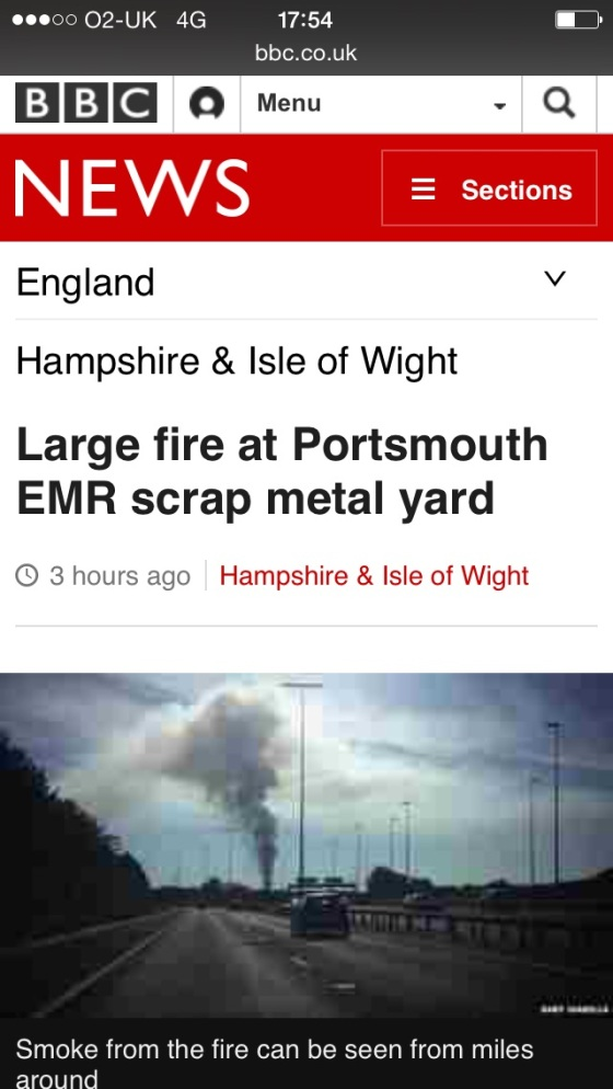 BBC NEWS Portsmouth Fire