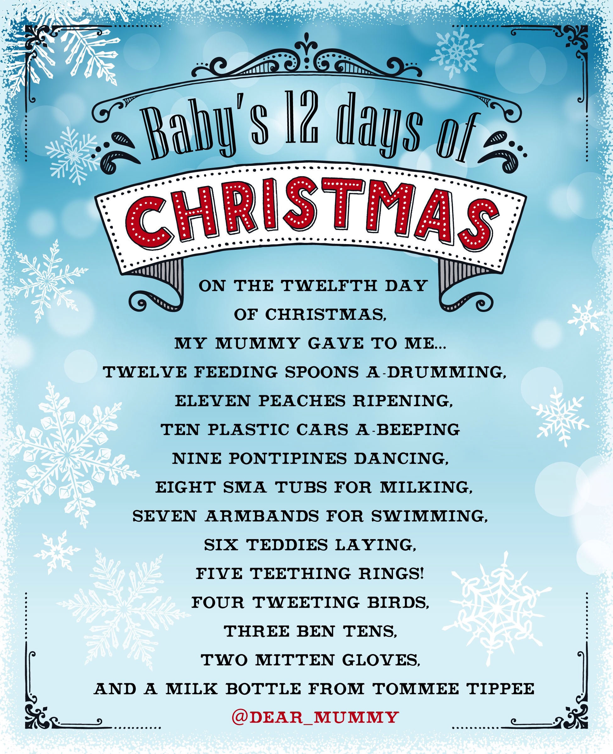 My 12 days ofChristmas!