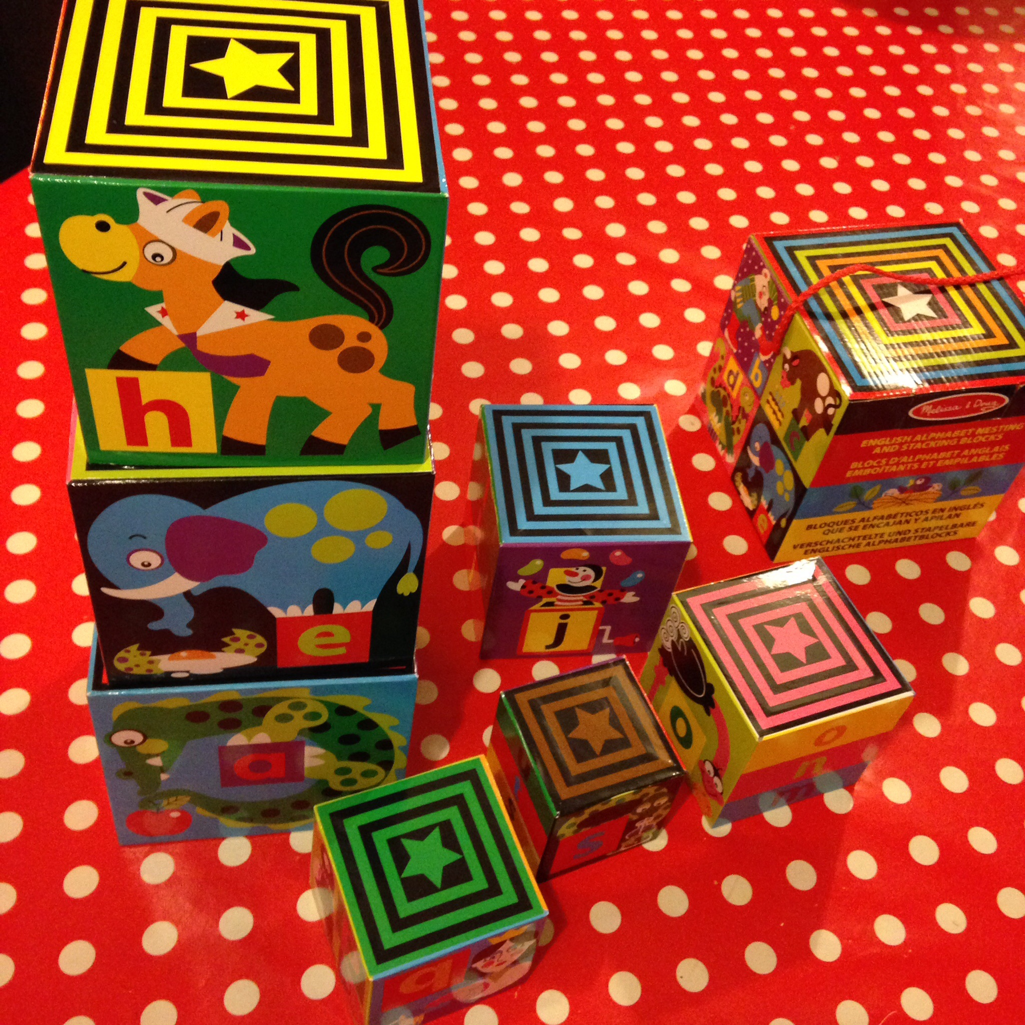 Melissa And Doug Alphabet Nesting And Stacking Blocks Dear
