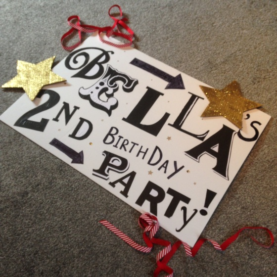 Bella's 2nd Birthday sign