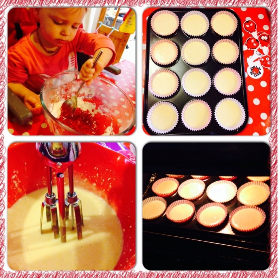 Red Nose Day Baking Cakes