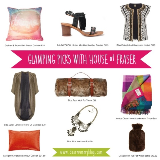 House of Fraser Glamping