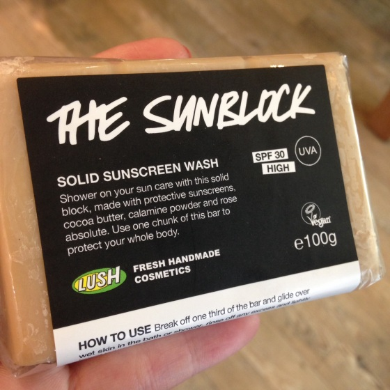 The Sunblock from Lush
