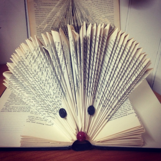 Book Art Hedgehog