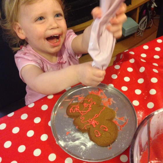 Baking Gingerbread Men