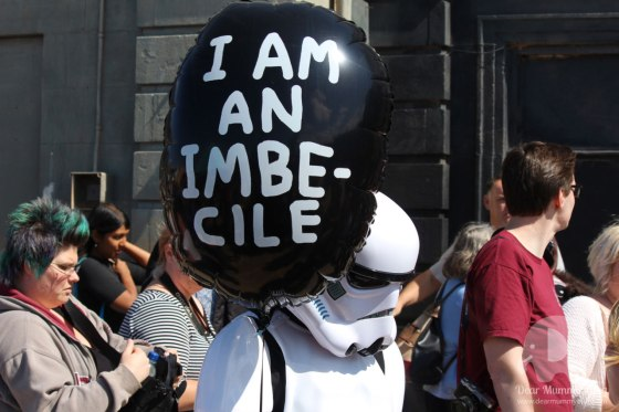 """I am an imbecile"" helium balloons"