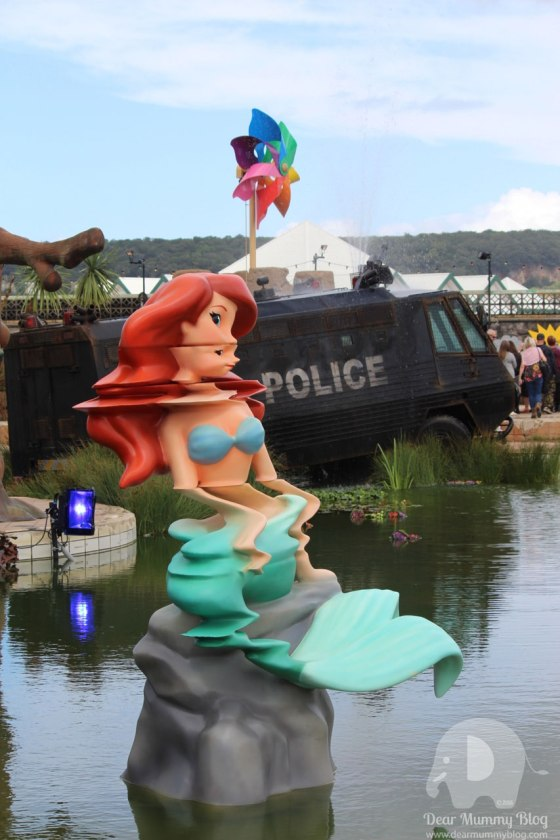 Water cannon creek at Dismaland