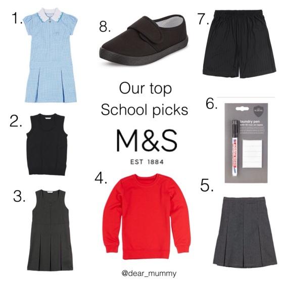 Marks & Spencers School Range