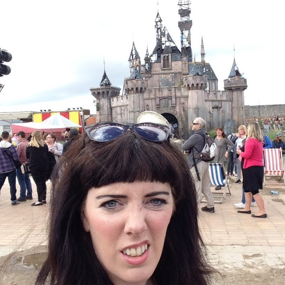 My mummy at Dismaland
