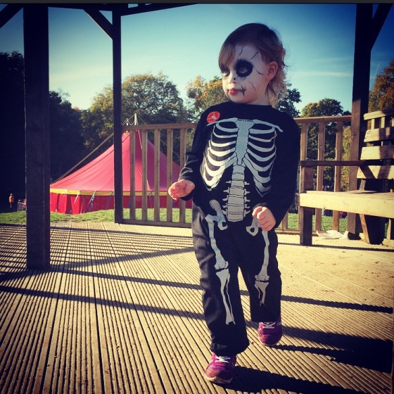 Bella in her Skeleton outfit