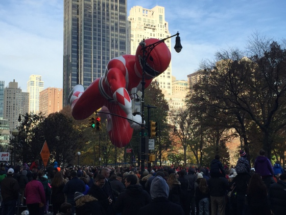 PowerRanger at Macy's Thanksgiving parade