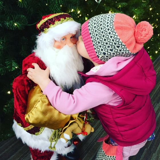 Kissing Father Christmas