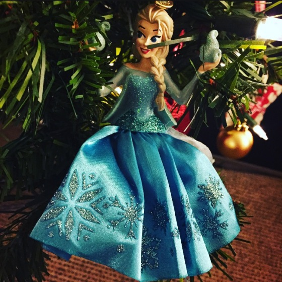 Elsa under the Christmas Tree