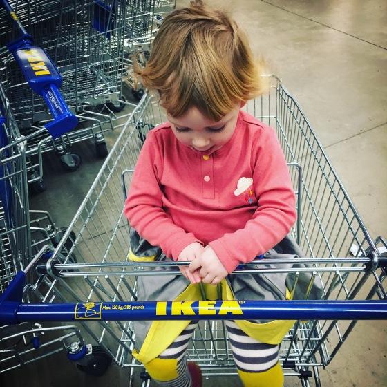 Bella at IKEA