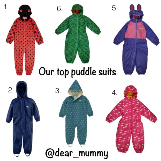 Kids Puddle Suits