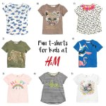 Fun t-shirts from H&M Kids