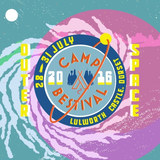Camp Bestival Outer Space Theme