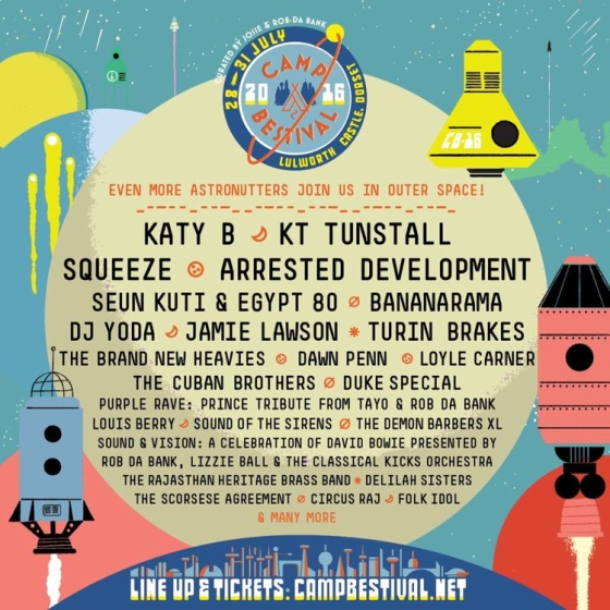 Camp Bestival 2016 Line-up