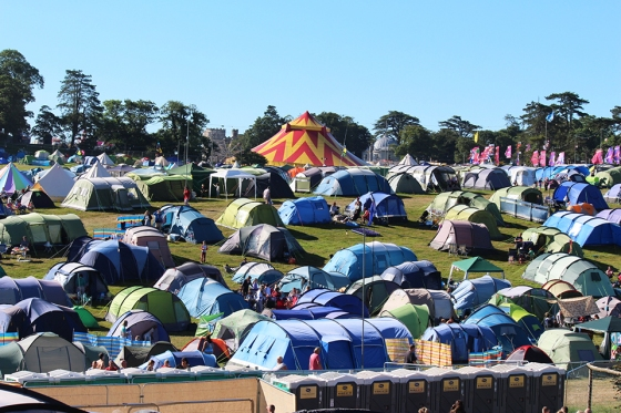 Camping at Camp Bestival