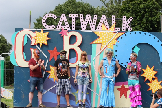 Sara Cox at Camp Bestival