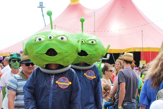 Aliens at Camp Bestival