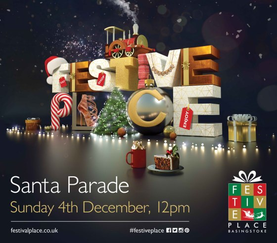 Santa Parade at Festival Place