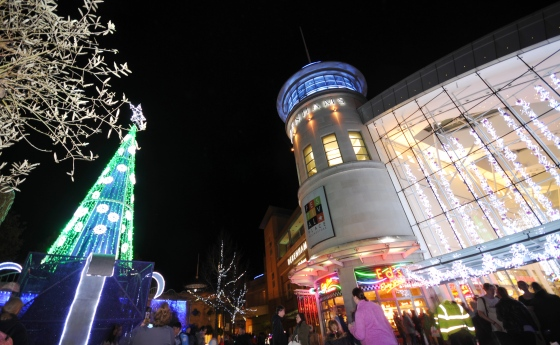 Festival Place Christmas Light Switch On