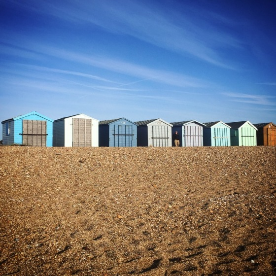 Beach Huts on Hayling Island, UK