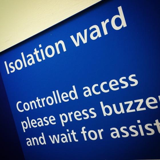 Isolation ward in hospital