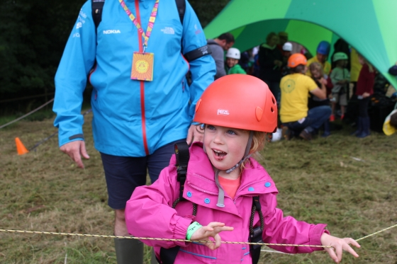 Camp Bestival Zip Line