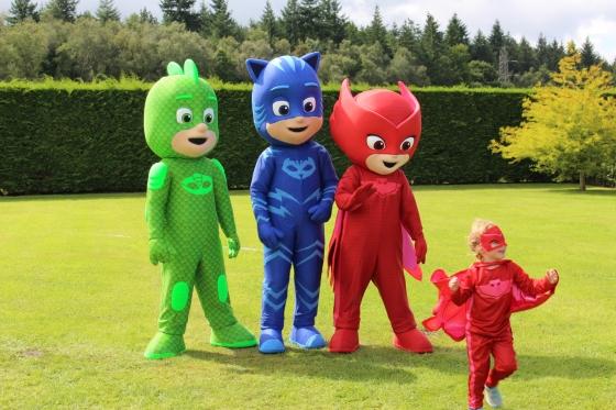 Meeting the PJ Masks at Paultons Park