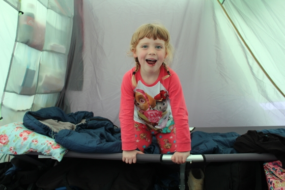 Our tent at Camp Bestival