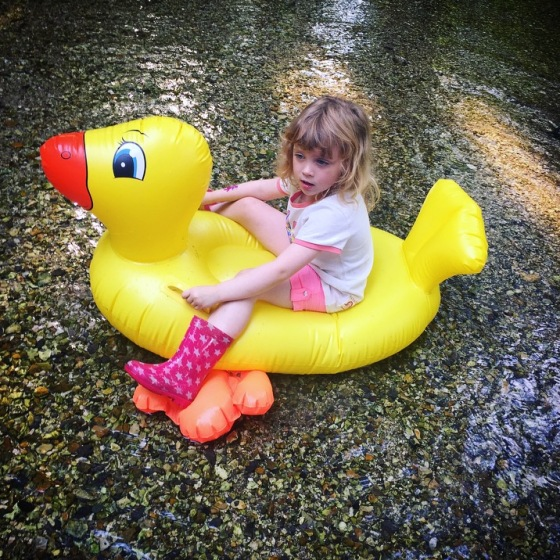Duck Race Overton