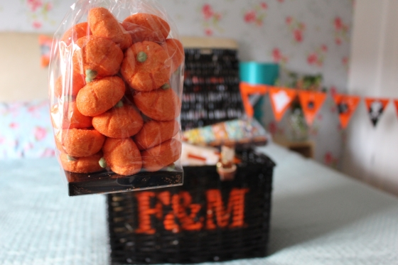 Pumpkin Marshmallows in a Bag