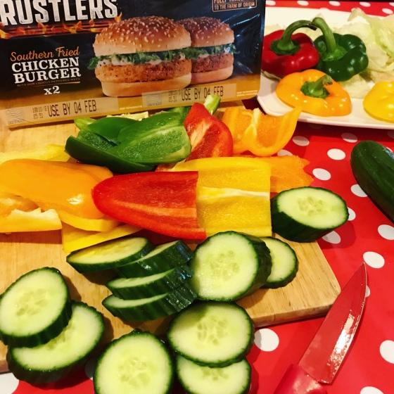My Rainbow Chicken Burger #RustlersHack
