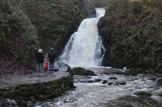 Glenoe Waterfall Photos