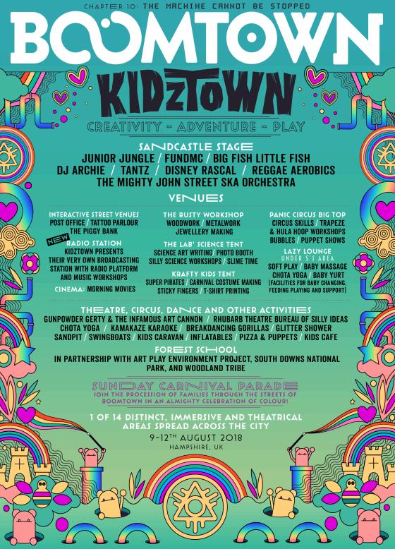 Boomtown Kidztown line-up