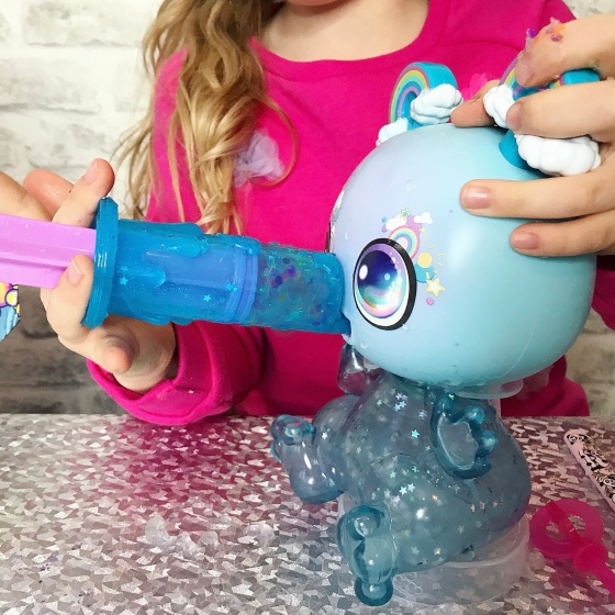 Goo Goo Galaxy Slurp /'n/' Slime Goo Drop Alien Baby Glitter Slimes and Powder New